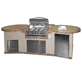 3-piece BBQ Island with 32-inch BBQ Grill