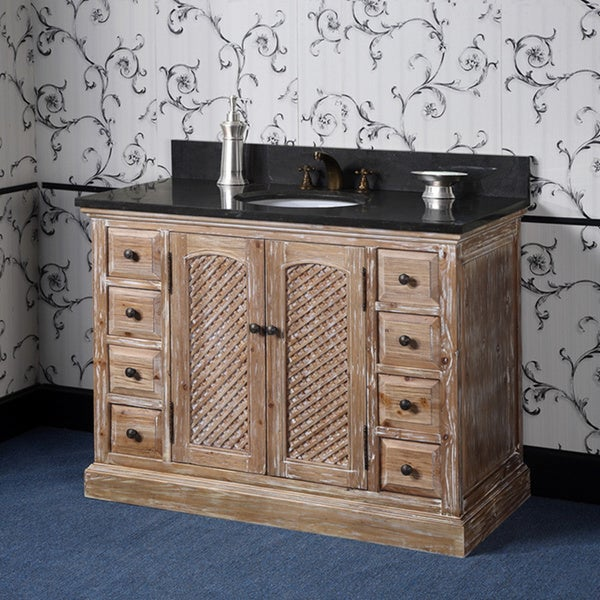 Shop Marble Top 48 Inch Single Sink Rustic Fir Bathroom