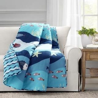 Lush Decor Sea Life Throw Blanket