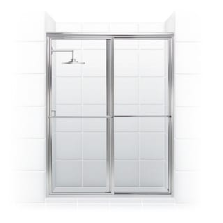 Newport Series 46 x 70-inch Framed Sliding Shower Door With Towel Bar in Chrome with Clear Glass