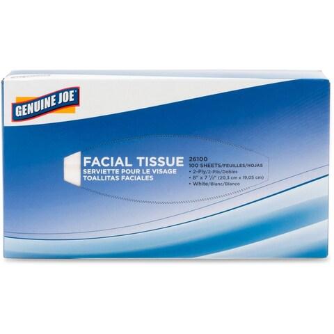 Genuine Joe 2-ply Facial Tissues (Pack of 30)