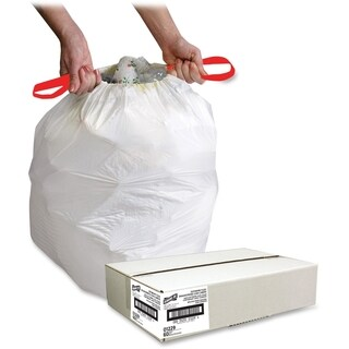 Genuine Joe Drawstring Trash Can Liner (Box of 60)