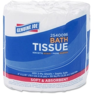 Genuine Joe 2-ply Standard White Bath Tissue Rolls (Pack of 96)