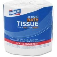 Genuine Joe 2-ply Standard Bath Tissue Rolls (Pack of 80)