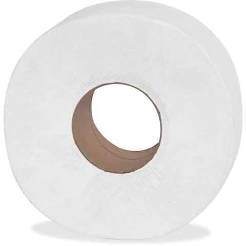Genuine Joe 2-ply Jumbo Roll Dispenser Bath Tissue (Pack of 12)