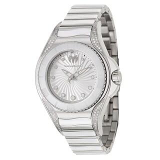 TechnoMarine Women's 'Blue Manta' Stainless Steel and Diamonds Swiss Quartz Watch