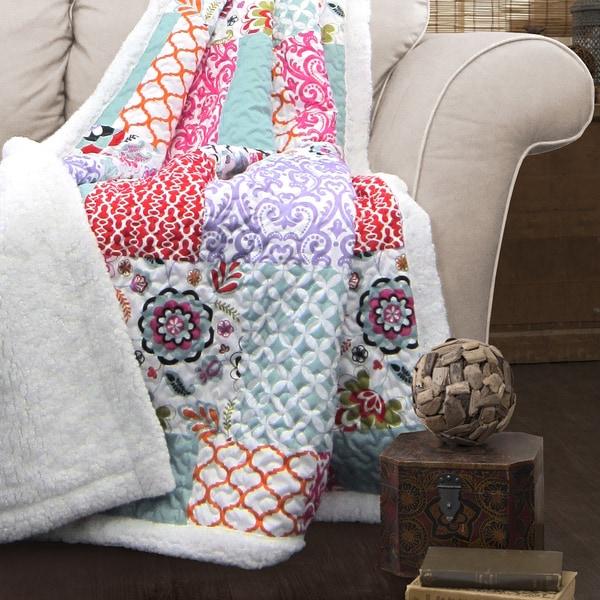 Lush Decor Brookdale Sherpa Throw Blanket
