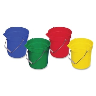 Genuine Joe 10 qt. Utility Buckets (Pack of 4)