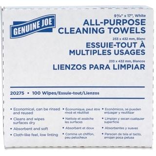 Genuine Joe All-purpose Cleaning Towels (Box of 100)