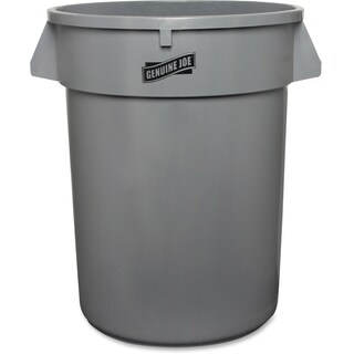 Genuine Joe Heavy-duty Grey Trash Container