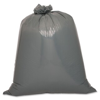 Genuine Joe Maximum Strength Silver Trash Can Liner (Box of 50)