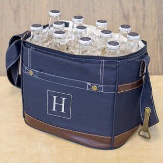 Personalized Navy 12-pack Bottle Cooler with Opener (More options available)