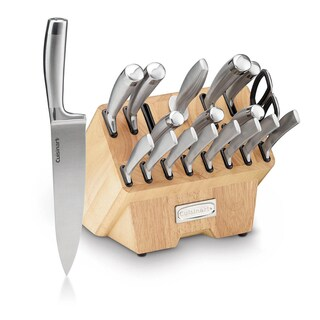 Classic 19-Piece Normandy Collection Cutlery Knife Block Set - Stainless