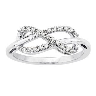 Sterling Silver 1/6ct TDW Diamond Infinity Ring (J-K, I1-I2)
