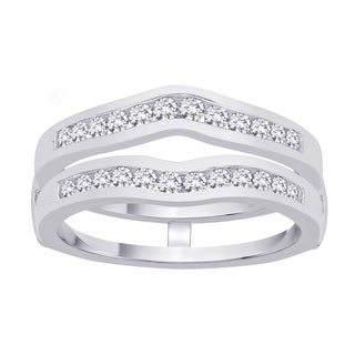 14k White Gold 2/5ct TDW Diamond Enhancer Ring (G-H, I1)