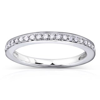 Annello by Kobelli 14k White Gold 1/8ct TDW Diamond Wedding Band