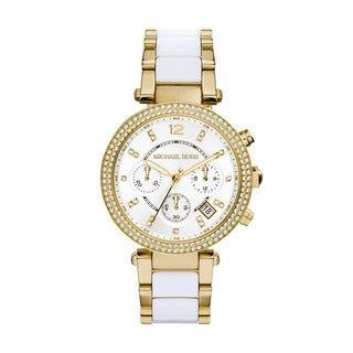 Michael Kors Women's MK6119 'Parker' Chronograph Two tone Stainless Steel Watch