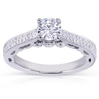 Annello by Kobelli 14k White Gold 4/5ct TDW Round Diamond Engagement Ring