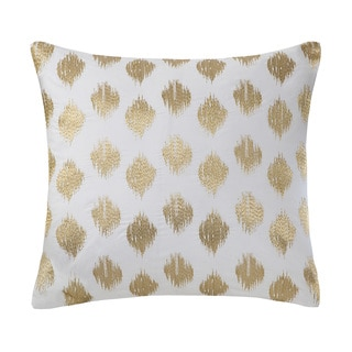 Ink+Ivy Nadia Dot Embroidered 18-inch Cotton Throw Pillow