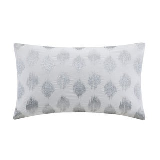 Link to The Curated Nomad Miley Silver Dot Embroidered Oblong Cotton Throw Pillow Similar Items in Decorative Accessories