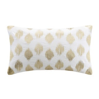 Charming Ink+Ivy Nadia Dot Embroidered Oblong Cotton Throw Pillow