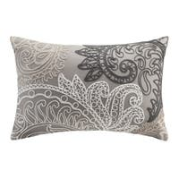 INK+IVY Kiran Chain Stitch Embroidered Cotton Oblong Throw Pillow