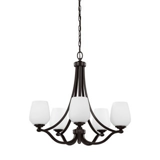 Feiss Vintner 5-light Heritage Bronze Chandelier