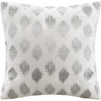 INK+IVY Nadia Dot Cotton 18-inch Embroidered Throw Pillow