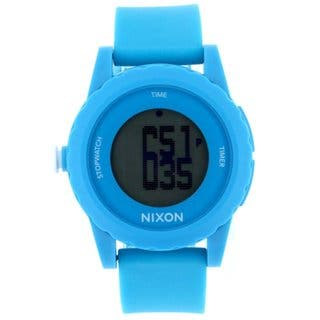 Nixon Men's A326-917 'Genie' Blue Silicone Watch|https://ak1.ostkcdn.com/images/products/10013190/P17160739.jpg?impolicy=medium