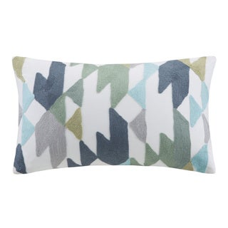 Ink+Ivy Konya Embroidered Oblong Cotton Throw Pillow
