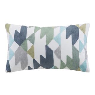 Porch & Den Mandela Embroidered Oblong Cotton Throw Pillow