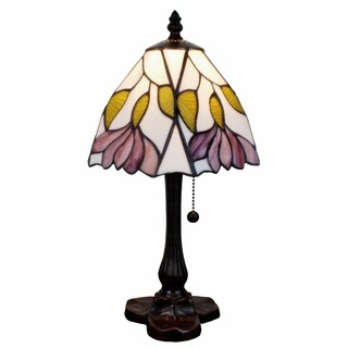 Amora Lighting Tiffany Style Floral Design Mini Table Lamp