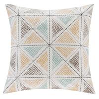 Carson Carrington Kedainiai Embroidered 18-inch Cotton Throw Pillow