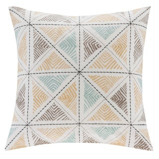 Ink+Ivy Zelda Embroidered 18-inch Cotton Throw Pillow