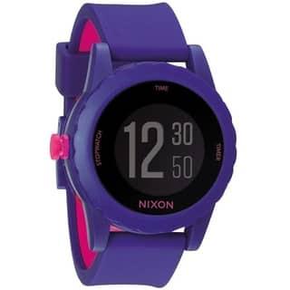 Nixon Women's A326-230 'Genie' Purple Silicone Watch|https://ak1.ostkcdn.com/images/products/10013206/P17160735.jpg?impolicy=medium