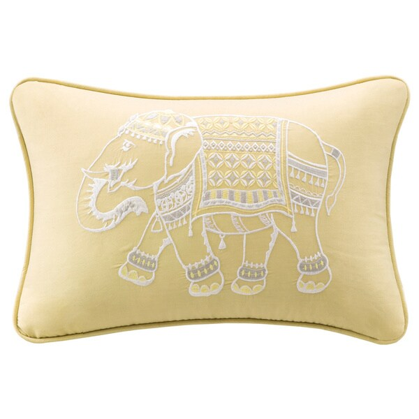 Ink+Ivy Zahira Embroidered Oblong Cotton Pillow