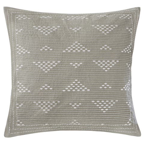 Carbon Loft Dickson Embroidered 18-inch Cotton Throw Pillow