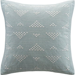 Ink+Ivy Cario Embroidered Square Cotton 18-inch Throw Pillow