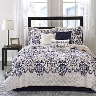 Madison Park Cardiff 6-piece Quilted Coverlet Set (2 options available)