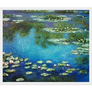Claude Monet Water Lilies Hand Painted Framed Canvas Art