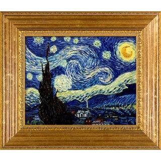 Vincent Van Gogh Starry Night Hand Painted Framed Canvas Art