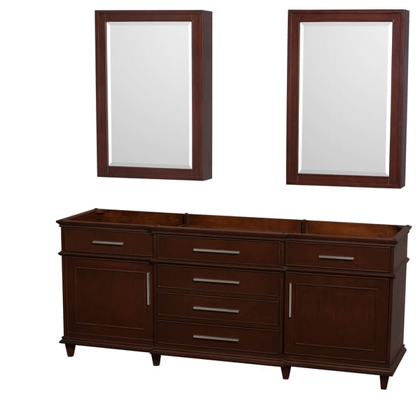 Attrayant Wyndham Collection Berkeley 80 Inch Dark Chestnut Double Vanity, 24 Inch Medicine  Cabinets