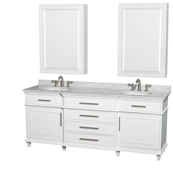 Genial Wyndham Collection Berkeley 80 Inch White Double Vanity, Undermount Sinks,  24 Inch