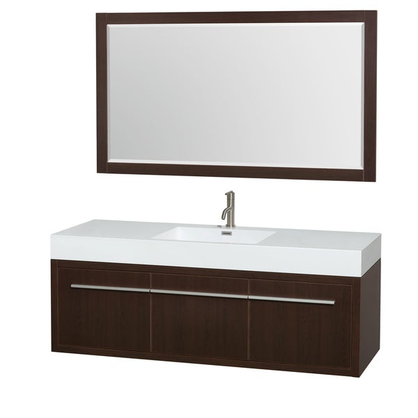 60 inch single bathroom vanity acrylic resin top integrated sink 58