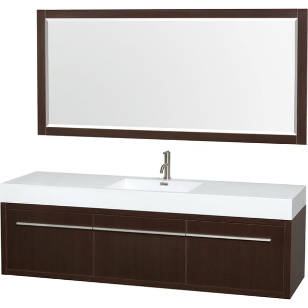 Shop wyndham collection axa 72 inch single bathroom vanity - 72 inch single sink bathroom vanity ...