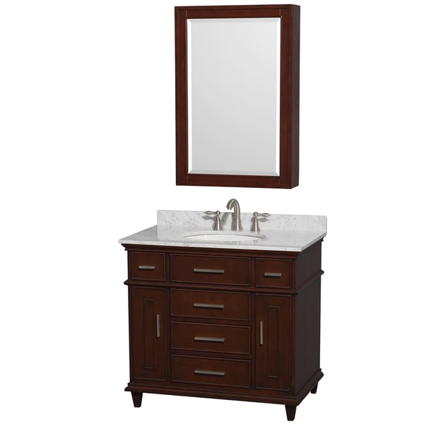 72 inch double sink bathroom vanities - Wyndham Collection Berkeley 36 Inch Dark Chestnut Single
