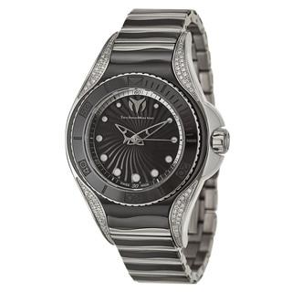 TechnoMarine Women's Blue Manta Stainless Steel and Diamond Swiss Quartz Watch
