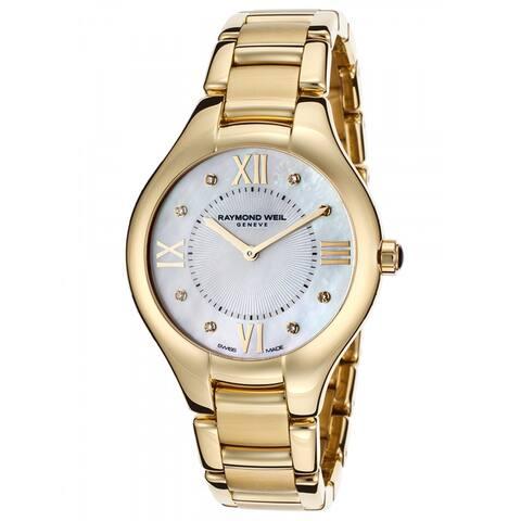 Raymond Weil Women's 'Noemia' Diamond Gold-tone Stainless Steel Watch