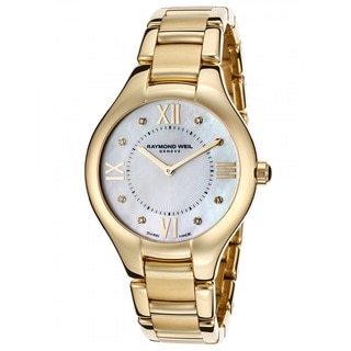 Raymond Weil Women's 5132-P-00985 'Noemia' Diamond Gold-tone Stainless Steel Watch