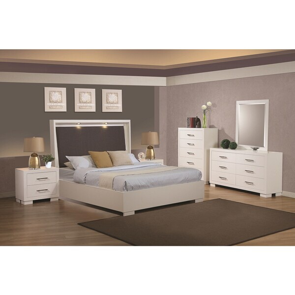 Shop Sag Harbor White 5 Piece Bedroom Set Free Shipping